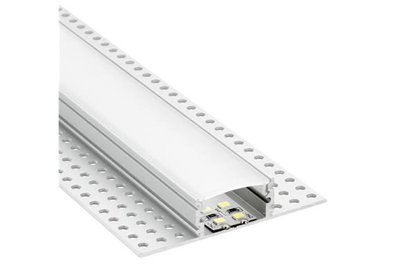 Aluminium Profil Intro W randlos 12 alu eloxiert  B=22mm H=14mm L=1000