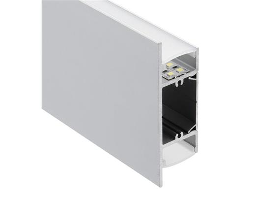 Aluminium Profil Wall 90 Up & Down alu eloxiert T=27mm H=88mm L=1000