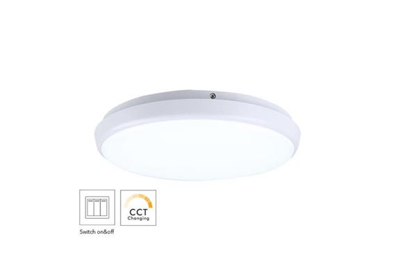 Anbauleuchte LED Circo 18W weiss opal 240V 1515-1620lm CRI90 D=300 H=42mm IP54