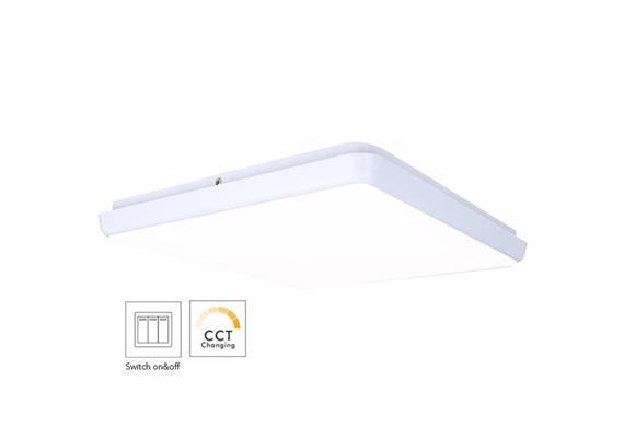 Anbauleuchte LED Quadro 18W weiss opal 240V 980-1010lm CRI90 300x300 H=42mm IP54