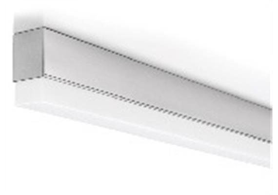 Anbauleuchte Metron 11W/2700°K Kunstglas m. Punktrast./alu 230V/L=600mm, B=36 H=65mm