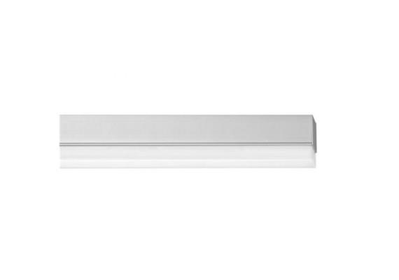 Anbauleuchte Metron 22W/2700°K Kunstglas m. Punktrast./alu  230V/L=1200mm,B=36 H=65mm