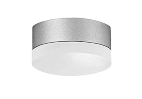 Anbauleuchte PUNTO LED 4W Kunstglas opal grau 230V/3000°K 510lm / D:120mm / IP44