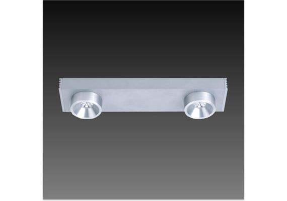 Anbauleuchte Talo LED WW 2x1.2W Alu gebürstet 100-240V/24V/350mA DC/ L=220 B=50 H=35