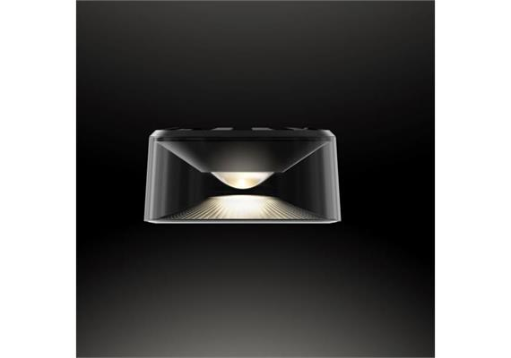 Anbauleuchte Vior AC 12W LED 60° schwarz 230V/ 3000K 750lm CRI90 / D=130 H=64 / IP54