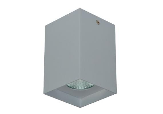Anbaustrahler Cubbo LED 12W 3000°K silbergrau 240V 960Lm CRI 90 B=80x80 H=105 IP20