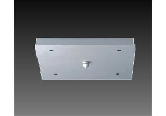 Aufbaugehäuse 4er 270x270mm nickel satinert H=40 für 4 Aufbaustrahler M10x1