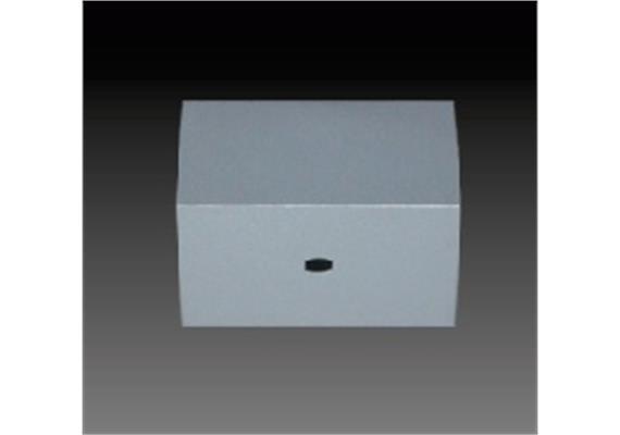 Aufbaugehäuse eckig chrom 82x82mm h=40mm für M10x1