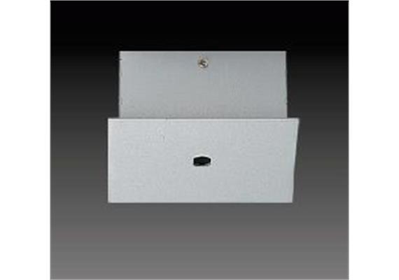 Aufbaugehäuse eckig für 1er Aufbaustrahler nickel satiniert 56x56mm h=25mm für M10x1