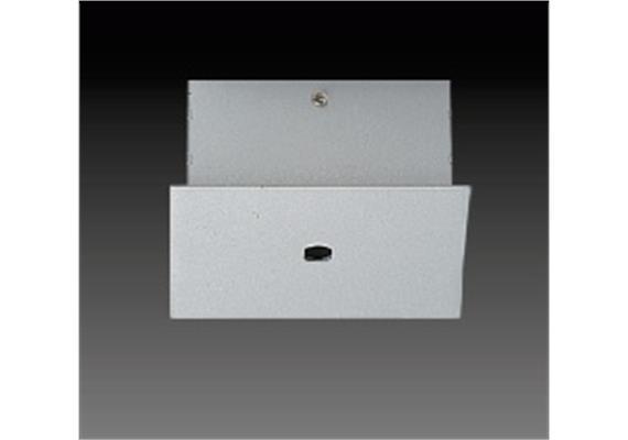 Aufbaugehäuse eckig für 1er Aufbaustrahler silbergrau 56x56mm h=25mm für M10x1