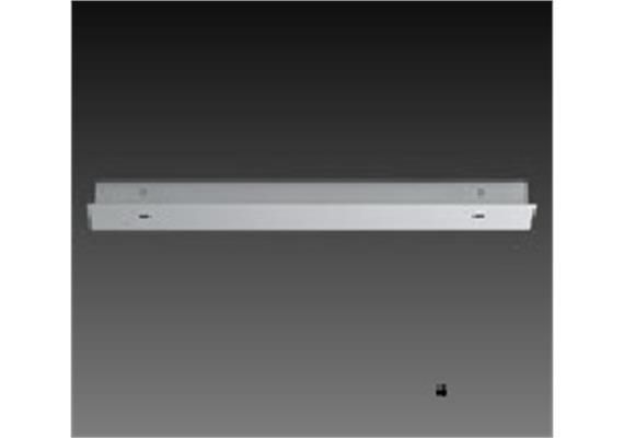 Aufbaugehäuse eckig für 2er Aufbaustrahler nickel glanz 236x56mm h=25mm für M10x1