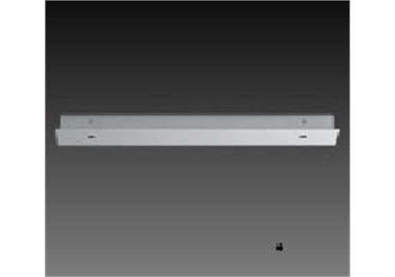 Aufbaugehäuse eckig für 2er Aufbaustrahler nickel satiniert 236x56mm h=25mm für M10x1