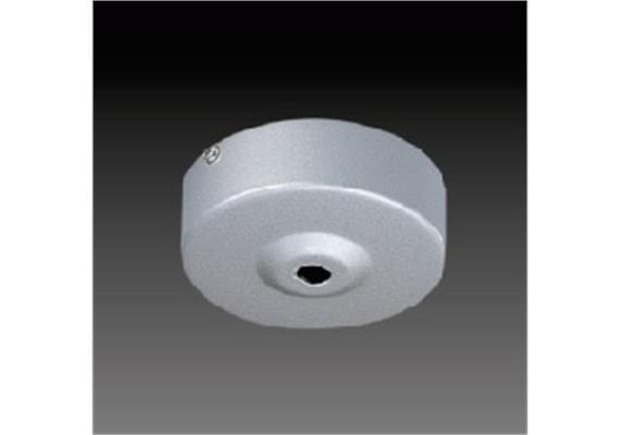 Aufbaugehäuse rund d=76 nickel satiniert d=76mm h=26mm für M10x1