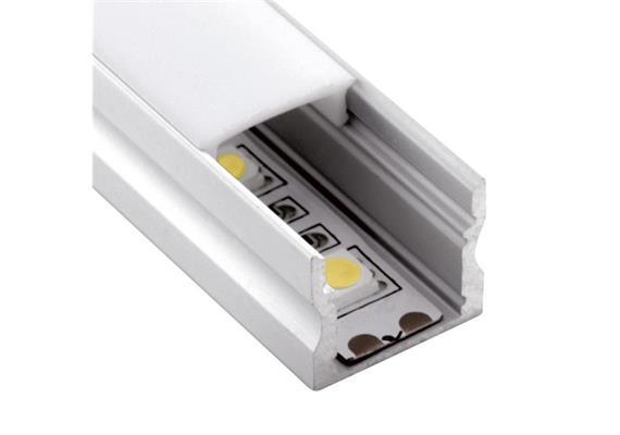 Aufbauprofil EXTRO 15 für LED alu eloxiert H=15mm B=17.2mm L=1000