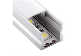 Aufbauprofil EXTRO 15 für LED alu eloxiert H=16mm B=17.2mm L=4000