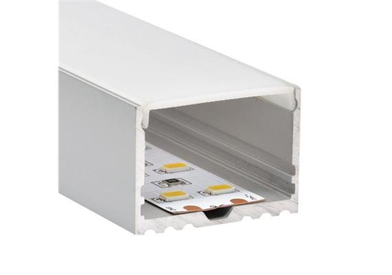 Aufbauprofil EXTRO B für LED alu eloxiert  H=25mm B=34.8mm L=1000mm