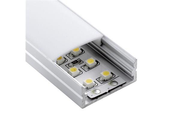 Aufbauprofil EXTRO W für LED alu eloxiert  H=10.5mm B=23.5mm L=1000mm
