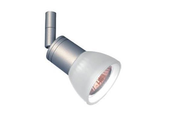 Aufbaustrahler Cano nickel satin 5W mit Glas weiss 230V/ GU10 35-50W / für M10x1
