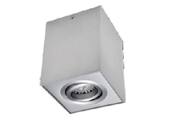 Aufbaustrahler Kono III schwenkbar 30° alu sat. max. MR16 50W/GU10 96x96mm H=120mm