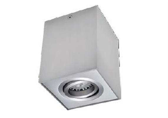 Aufbaustrahler Kono III schwenkbar 30° weiss 12V max. MR16 1x50W/GU10 / 96x96mm H=120mm