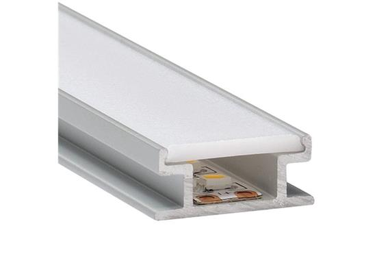 Bodeneinbauprofil Floor 8 inkl. PMMA Diffusor opal matt  B=19.3mm H=8.2mm L=1000mm