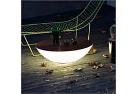 Bodenleuchte Solar Outdoor braun 1x25W, E27, D=80cm, H=26cm