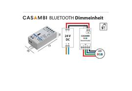 Casambi Dimmeinheit 24V für RGB-Led Strip  DC 24V 3x48W L=73 B=30 H=18mm IP20