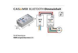Casambi Dimmeinheit 24V für RGB-W Led Strip  DC 24V 4x36W L=73 B=30 H=18mm IP20