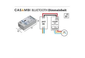 Casambi Dimmeinheit PWM 24V für CCT-Led Strip  DC 24V 2 x144W L=73 B=30 H=18mm IP20