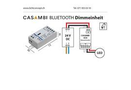 Casambi Dimmeinheit PWM 3-Kanal 24V für Led Strip  DC 24V 3 x48W L=73 B=30 H=18mm IP20