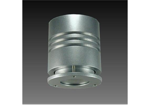 Decken Aufbaustrahler One IP55 HV 50W silbergrau 230V/GU10 1x 35W/ IP5 H=100 D=87