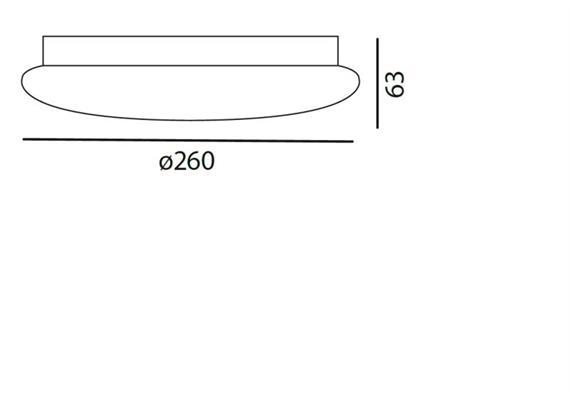 Decken- / Wandleuchte SOLO 26 LED 12W weiss matt  LED 12W 3000°K H=63 D=260