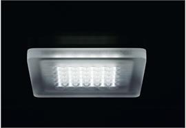 Deckenaufbauleuchte Modul Q36 LED 60° 6.8W Acryl 24V/DC/36Led 3000°K IP20 /122x122/H=10