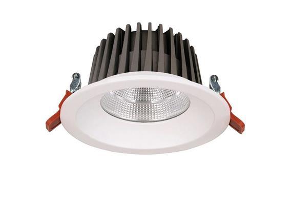 Deckeneinbaudownlight 15W weiss matt  240V /D=145 DA=125mm/ ET=46mm /IP40