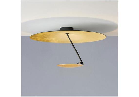 Deckenl. Lederam C150 LED 17W/2700K gold- schwarz  230V/1700lm 2700K D=50 H=260mm