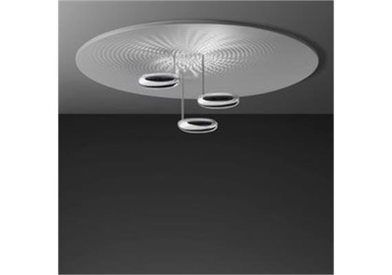 Deckenleuchte Droplet LED satiniert alu/ pol.chrom 3x29W LED 3241lm 3000K, D=1100 H=320
