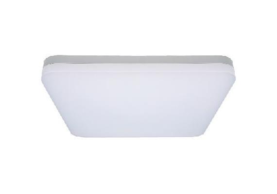Deckenleuchte L=400x400 LED 29W 4000°K silber  230V/LED 1950lm CRI80 /D=400mm H=63mm IP20
