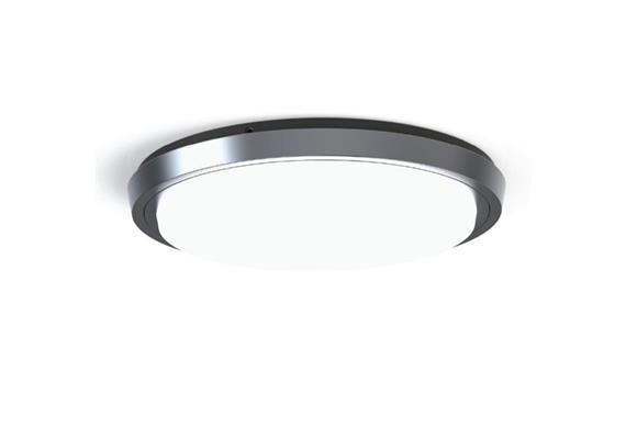 Deckenleuchte LED Circle 29W 3000K silber opal 230V 1800lm CRI80 D=250 H=38 IP44