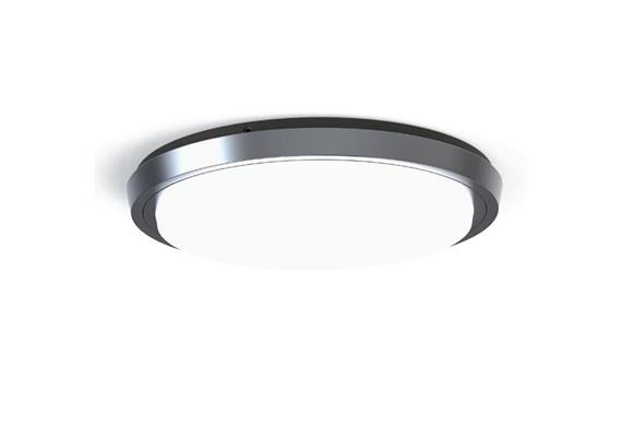 Deckenleuchte LED Circle 38W 3000K silber opal 230V 2200lm CRI80 D=300 H=40.5 IP44
