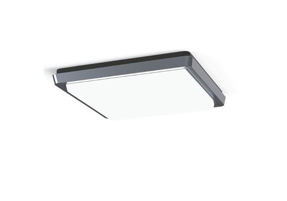 Deckenleuchte LED Linge 29W 4000K silber opal  230V 1900lm CRI80 L=240x240 H=38 IP44