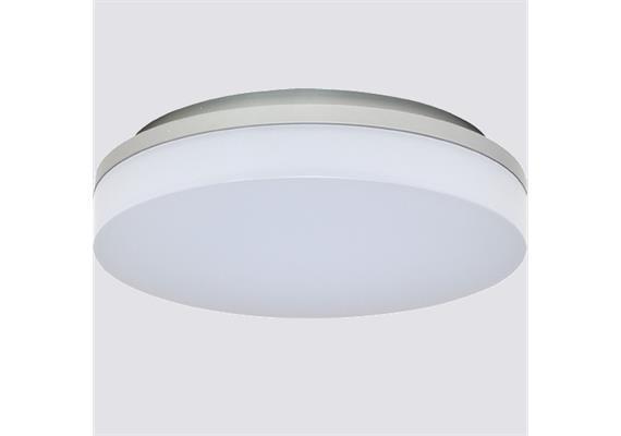 Deckenleuchte LED Slice 15W 3000°K silber opal 230V 1000lm CRI80 D=220 H=50mm IP44