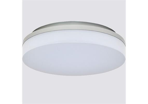 Deckenleuchte LED Slice 15W 4000°K silber opal 230V 1050lm CRI80 D=220 H=50mm IP44