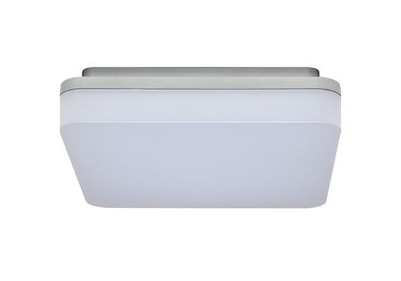 Deckenleuchte LED Slice 15W 4000K silber opal 230V 1050lm CRI80 L=210x210 H=50mm IP44