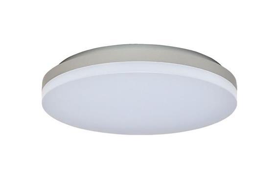 Deckenleuchte LED Slice 18W 3000K silber opal  230V 1100lm CRI80 D=270 H=44mm IP20