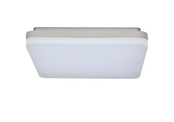 Deckenleuchte LED Slice 18W 3000K silber opal 230V 1100lm CRI80 L=260x260 H=44mm IP20