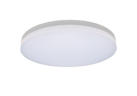 Deckenleuchte LED Slice 29W 4000K silber opal 230V 1950lm CRI80 D=400mm H=63mm IP20