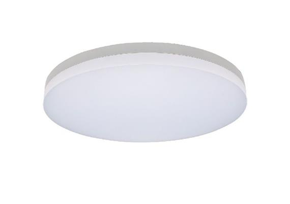 Deckenleuchte LED Slice 38W 3000K silbergrau  230V 2600lm CRI80 D=400mm H=63mm IP20