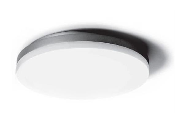 Deckenleuchte SLICE D=600 38-55W 3000°K DALI weiss 230V/ 5800lm CRI80 /H=66 /IP54
