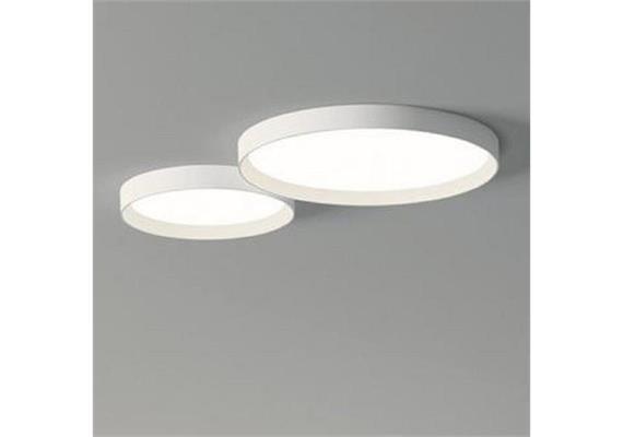 Deckenleuchte UP 55W+26W LED weiss matt 230V/ 2700K 7608Lm D=730+500mm H=70 IP20