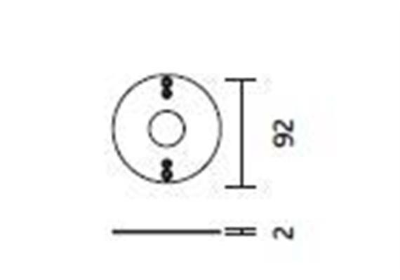 Deckenring für Direktmontage Cubic 36,49,64  D= 92mm H=2mm Stahlblech verzinkt